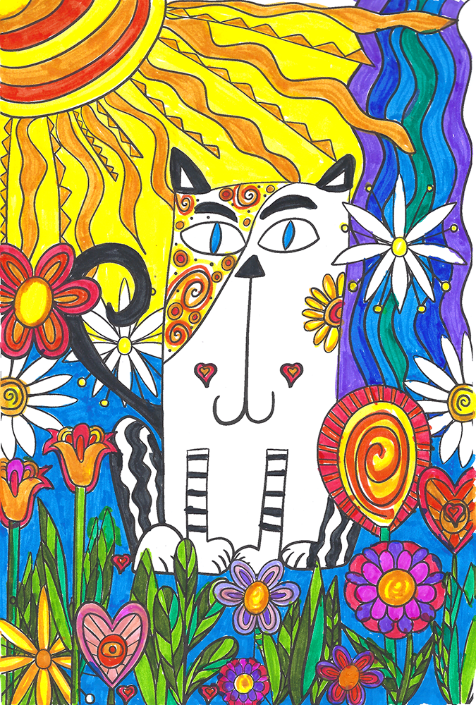 My Private Scream Journal coloring page