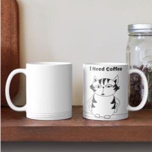 Grumpy Cat coffee mug A Cat who needs more coffee Mug