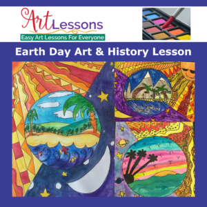 Earth Day Art Project step-by-step drawing and painting lesson